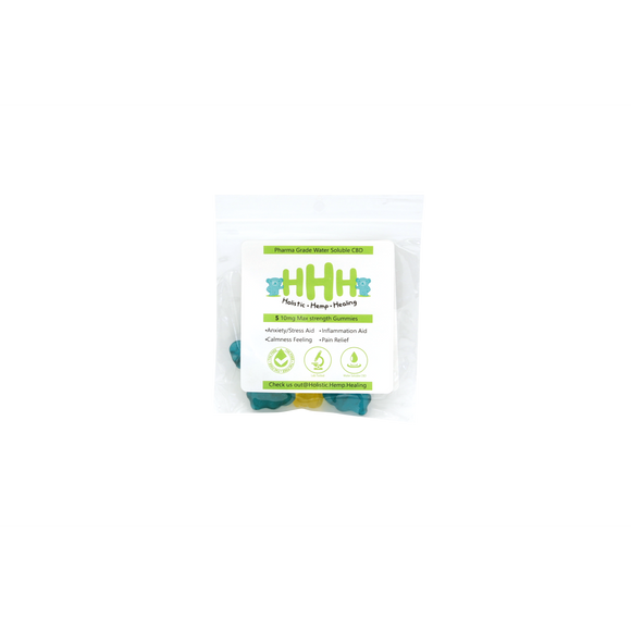 HHH CBD GUMMY, 1mg, 5 pack | HOLISTIC HEMP HEALING | Any Body Supplements