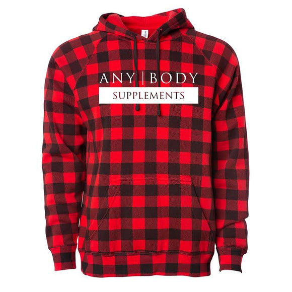 Any Body Supps Checkered Hoodie | Any Body Supplements | Any Body Supplements