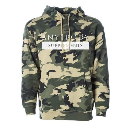 Any Body Supps GREEN CAMO Hoodie