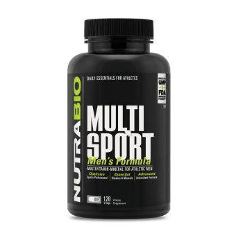 NutraBio MultiSport Vitamin for Men 12 Capsules | NUTRABIO | Any Body Supplements