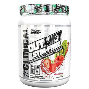 Nutrex Research Outlift Stim-Free Pre-Workout Powder, Strawberry Kiwi-PRE WORKOUT-Any Body Supplements