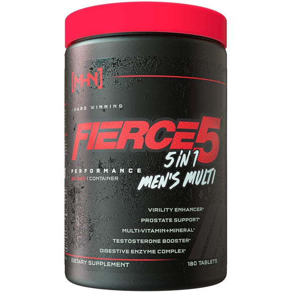 Fierce 5 Men's Multi-Vitamin | 5 in 1 Performance Multi | 180 Tablets