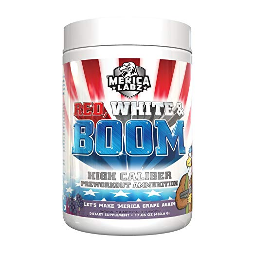 Merica Labz Red, White & Boom Pre-Workout, 25 Servings