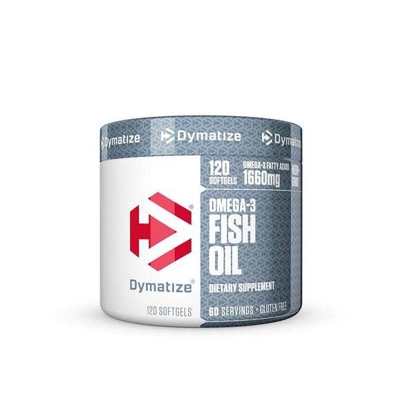 Dymatize Omega-3 Fish Oil Softgels, 120 Count