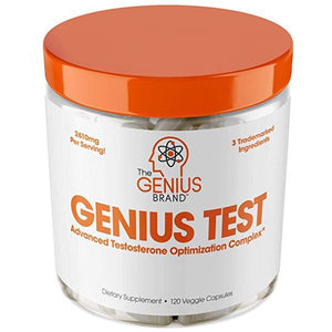 GENIUS TEST - The Smart Testosterone Booster For Men | THE GENIUS BRAND | Any Body Supplements