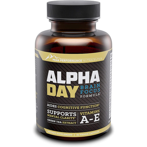 Alpha Day Nootropic Brain Supplement | PEAK PERFORMANCE | Any Body Supplements