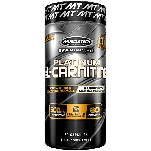 MuscleTech Essential Series 100%, Carnitine, 60 Count