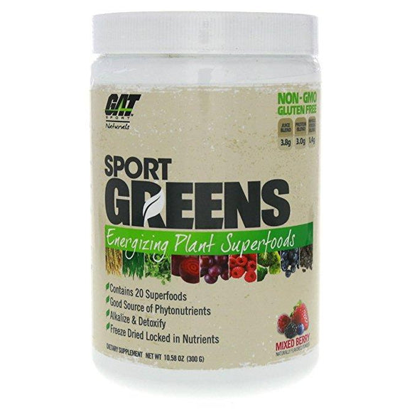 GAT Naturals Sport Greens Energizing Plant Superfoods, 3 GRAM | GAT SPORTS | Any Body Supplements