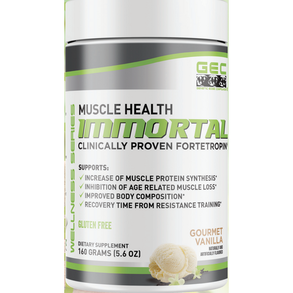 GEC IMMORTAL | Muscle Health | GENETIC EDGE COMPOUNDS | Any Body Supplements