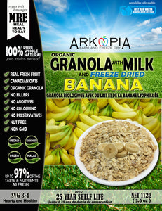 Milk and Granola with Banana MRE - Coming Soon