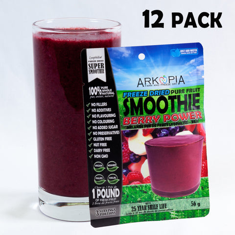 BERRY POWER - 12 PACK - ($6.99/smoothie) - FREE SHIPPING - regular $7.99/smoothie