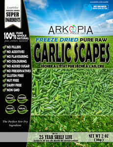 Freeze Dried Garlic Scapes - IN DEVELOPMENT