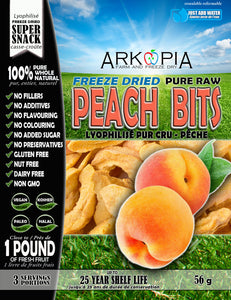 Freeze Dried Pure Raw Peach Bits - COMING SOON