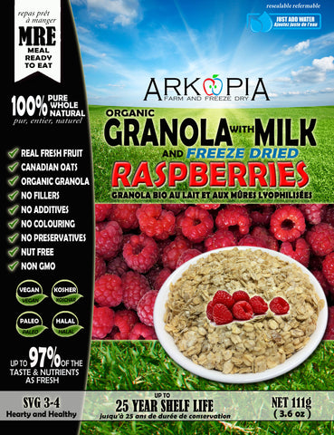 Milk and Granola with Raspberries MRE - Coming Soon