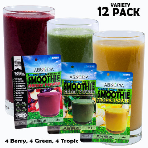 VARIETY 12 PACK - *BEST SELLER* - ($6.99/smoothie) - FREE SHIPPING - regular $7.99/smoothie