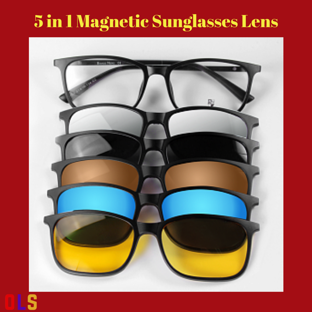 2ef7e86f7ef0 5 IN 1 MAGNETIC SUNGLASSES LENS. Hover to zoom