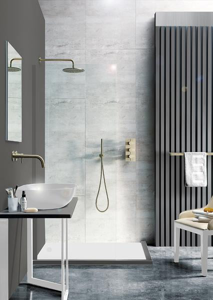 Brushed Brass Bathroom - Tapron.co.uk