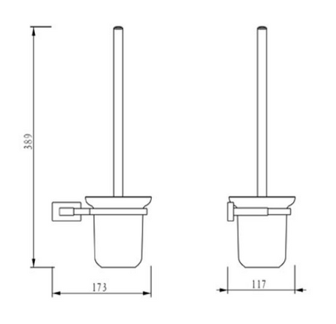 Ludo Toilet Brush and Holder [970165]