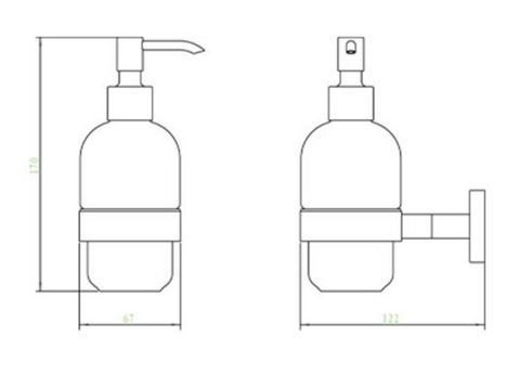 Mode Soap Dispenser and Holder [400167]
