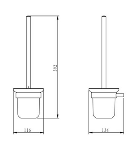 Plus Toilet Brush and Holder [940165]