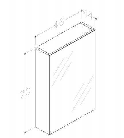 Single Door Bathroom Side Unit [WAL160W]
