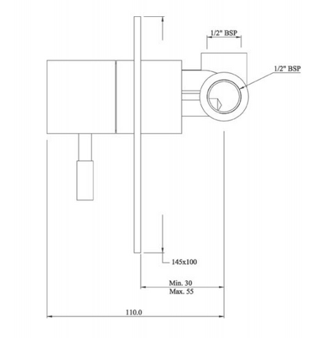 Single lever concealed manual valve, HP 1 [ANG-53139]
