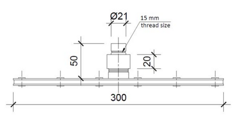 Square 300mm Overhead Shower [1402]