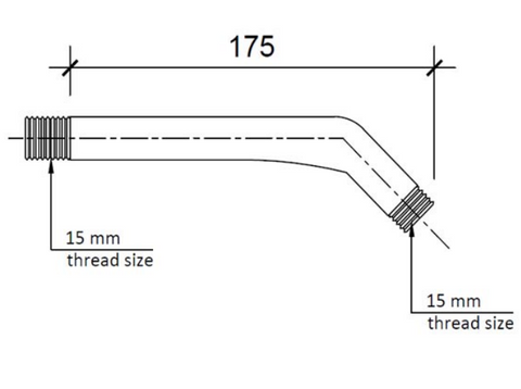 Techno Shower Arm, 175mm [48005]