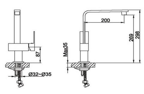 Thames Single Lever Sink Mixer [JT182]