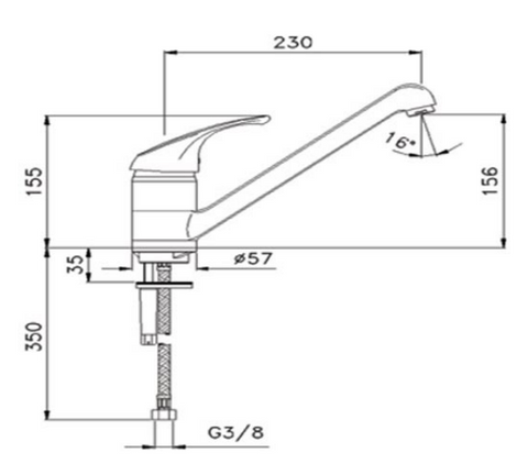 Topmix Single Lever Sink Mixer [TM184]