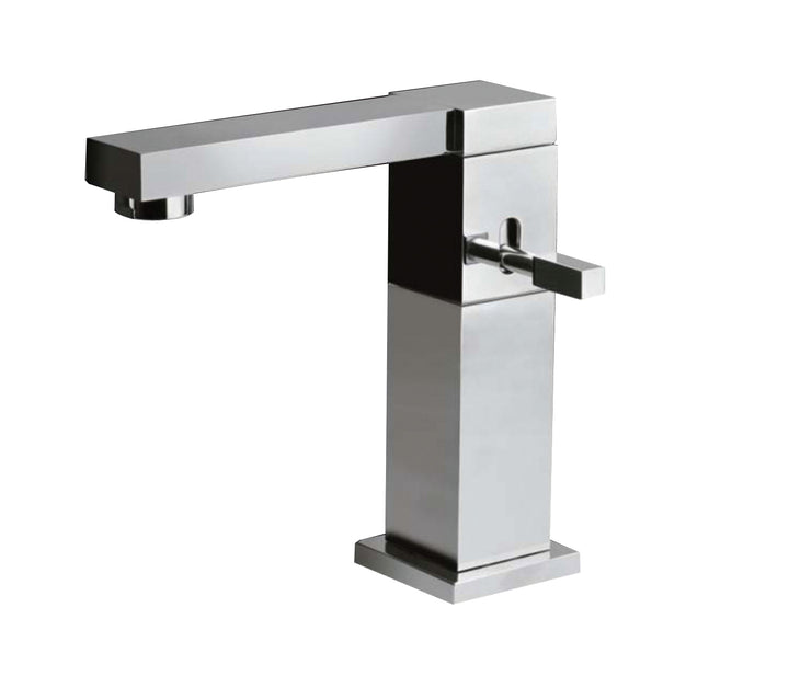 Single lever basin mixer swivel spout without pop-up waste