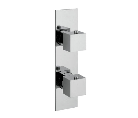 Square slimline thermostatic concealed 1 outlet shower valve, vertical, HP 1 [53651]