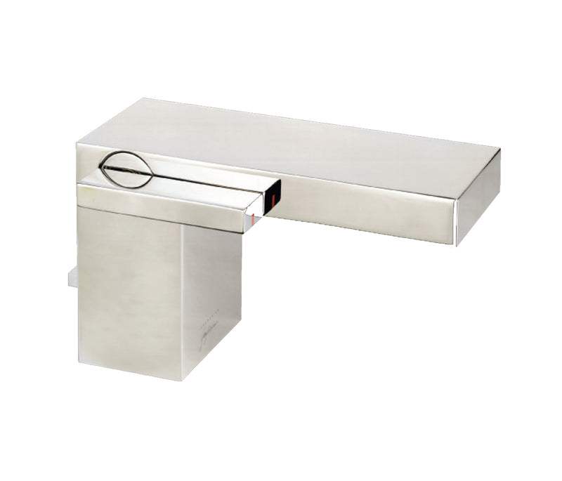 Monoblock basin mixer with pop-up waste
