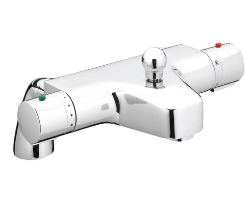 Thermostatic Bath and Shower Mixer without Kit Deck Mounted