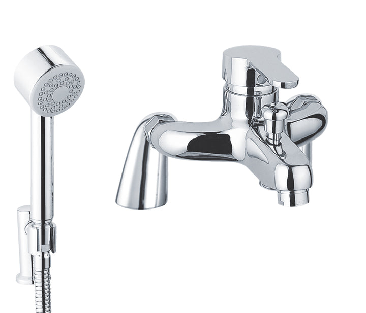 Opal Mounted Single Lever Bath and Shower Mixer with Kit