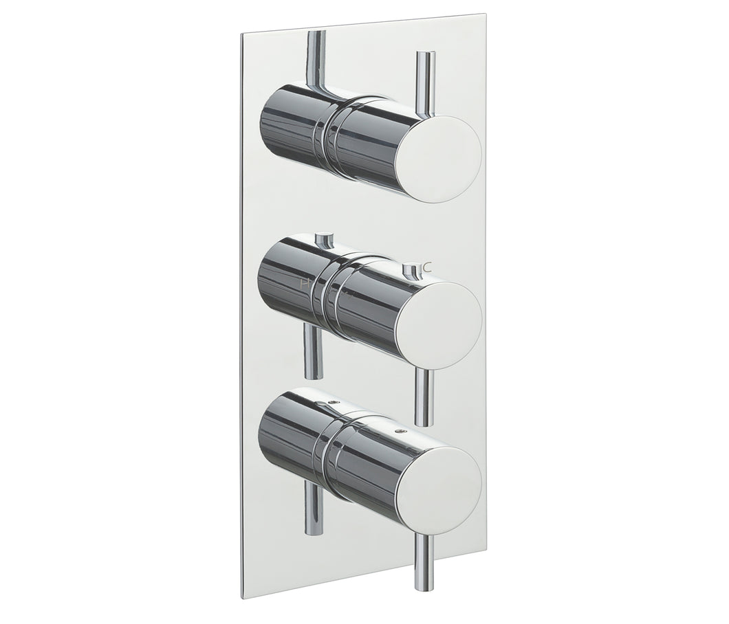 Eos Thermostatic 2 Outlet Shower Valve  Vertical - Tapron