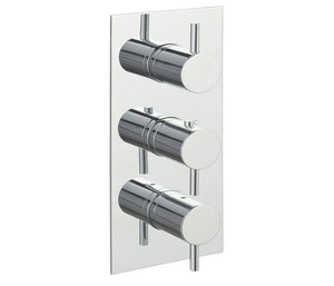 Eos Thermostatic 3 Outlet Shower Valve - Vertical - Tapron