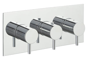 Eos Thermostatic 3 Outlet Shower- Horizontal - Tapron