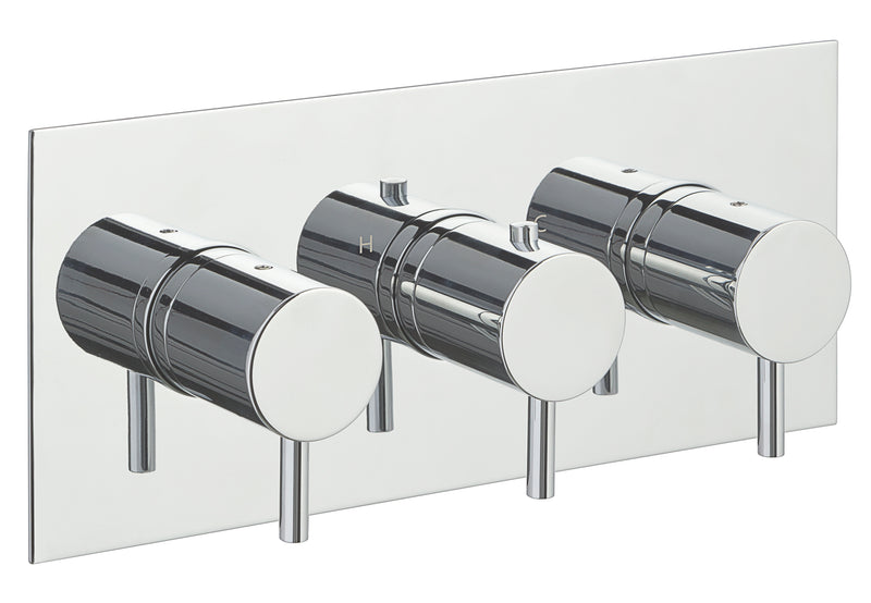 Eos Thermostatic 2 Outlet Shower Valve - Horizontal - Tapron