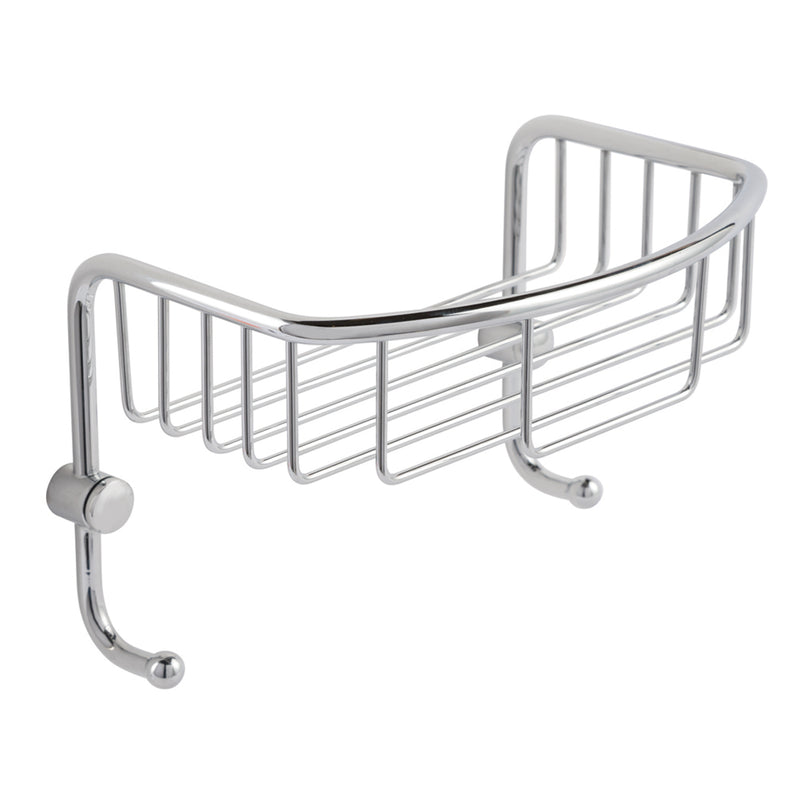 Large Wall Shelf Basket with Hooks