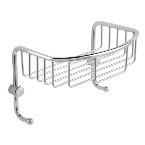 Large Wall Shelf Basket with Hooks [2007]