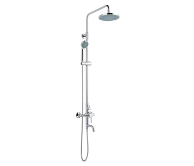Florence Shower Pole with Overhead Shower, Handshower and Bath Spout