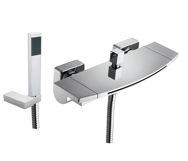 Flow Wall Mounted Bath Shower Mixer with Kit - Tapron