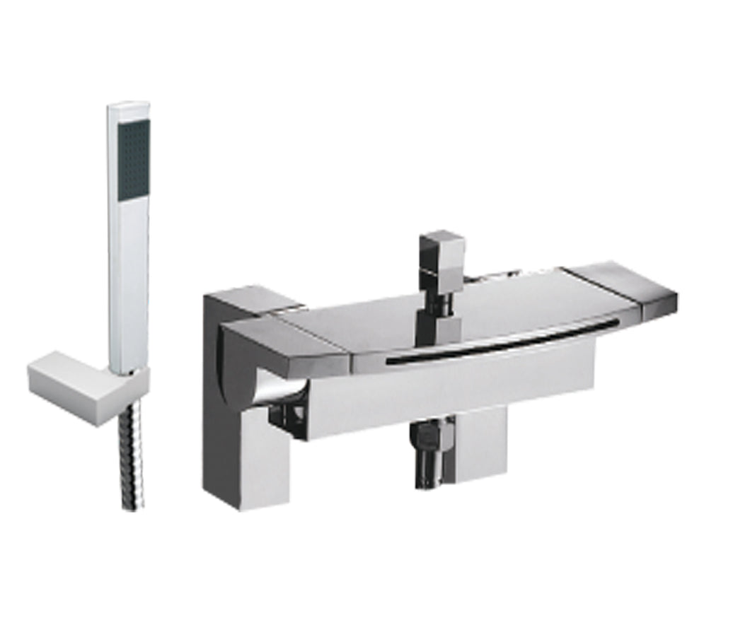 Flow deck mounted bath shower mixer with kit - Tapron