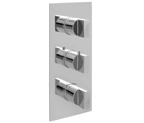 Major Concealed Thermostatic 2 Outlet Shower Valve - Vertical [45690]