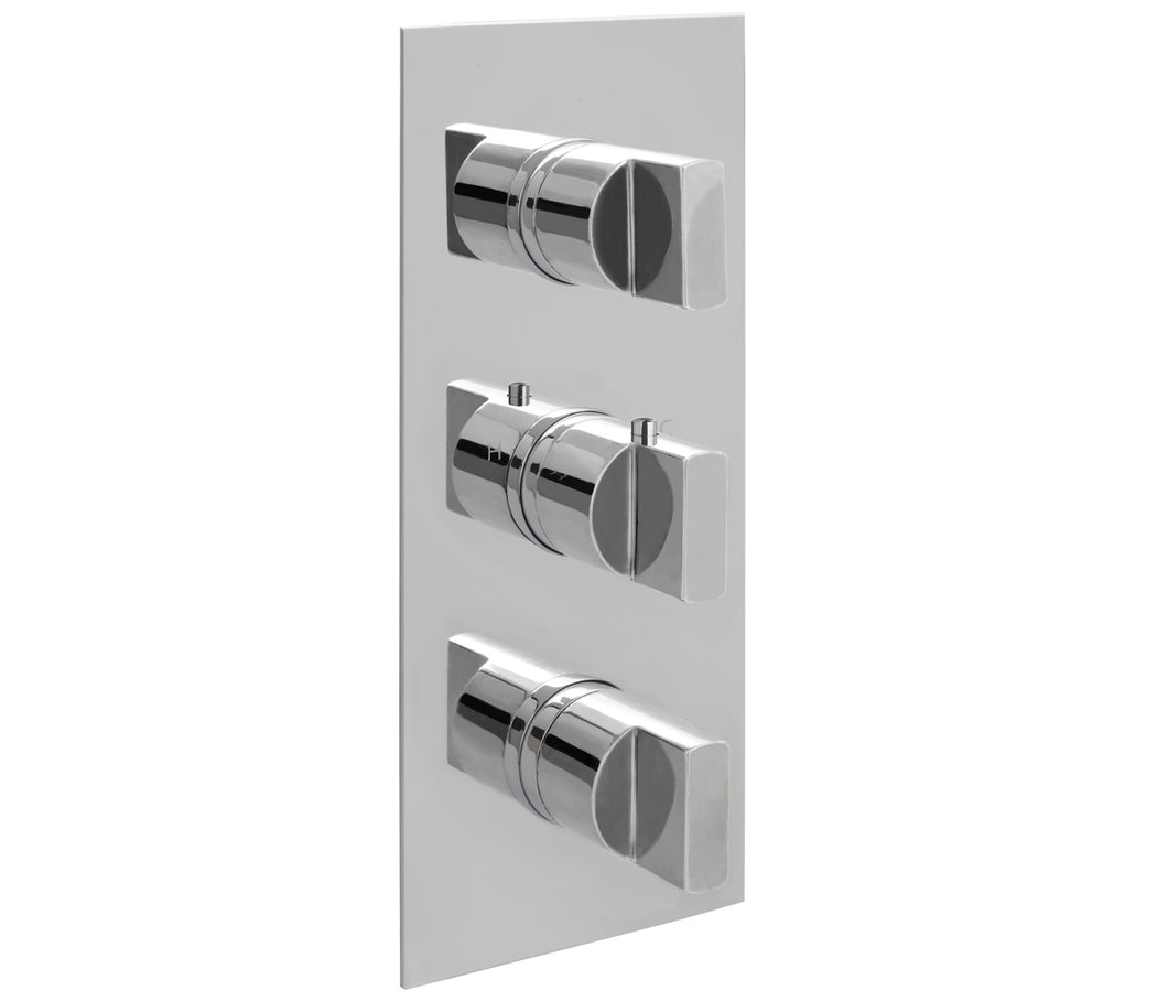 Concealed Thermostatic 3 Outlet Shower Valve  Vertical