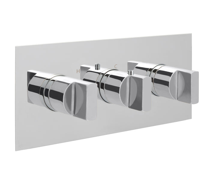 Concealed Thermostatic 3 Outlet Shower Valve  horizontal