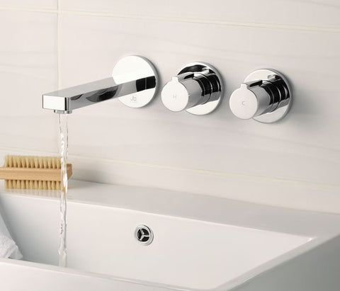 Hugo 2 Handle Wall Mounted Basin Mixer [71085]