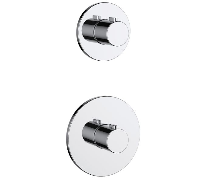 2 Handle 2 Outlet Concealed Thermostatic Shower Valve