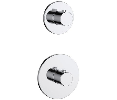 Hugo 2 Handle 2 Outlet Concealed Thermostatic Shower Valve [71981]